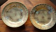 Set Of 6 Six Antique Nippon Butterfly 7.25 Plate Colorful W/ Gold Moriage Bin