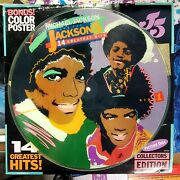 Michael Jackson And The Jackson 5 Picture Disc Lp Record And Poster 6099ml