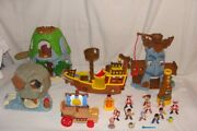 Jake And The Neverland Pirates Ship + Figures Huge Lot