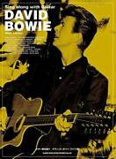 Used David Bowie Playing The Guitar Wide Edition Score Sheet Music Japan Book