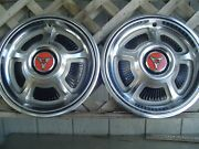 Two 1968 1969 Dodge Dart Charger Polaro Coronet Super Bee Rt Hubcaps Wheel Cover