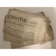 Vintage Newspapers Christian Repository Lot Of 60 Issues From 1850 - 1855