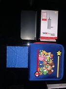 Nintendo New 3ds Xl Console, Mario Case, 3 Stylus', Charger And Microfibre Cloth