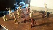 Marx 1950s Roy Rogers Cowboy Lot 60mm Western Ranch Rodeo Figures Playset