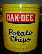 Vintage Dan Dee Potato Chip Can With Side Handle