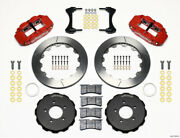 Wilwood Narrow Superlite 6r Front Hat Kit 12.88in Red 2006-up Civic / Crz
