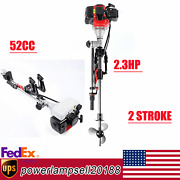2.3hp 2stroke Outboard Motor Inflatable Fishing Boat Engine Water-cooling 52cc