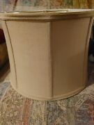 Vintage 8 Panel Victorian Lamp Shade Off-white Ivory Fabric