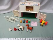 Fisher Price Little People Play Family Farm Barn 915 Cd Tractor Cow Horse Sheep