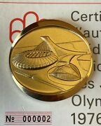 Montreal Olympic Medallion Set Gold/silver/bronze Set 1976 - Rare 2 Serial