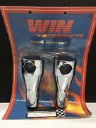 Vintage Nos Win Products Chrome 4andrdquo Chubby Risers For Harley Davidson Motorcycles