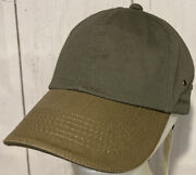 Stetson Od Olive Drab Green Brown Adjustable Cotton Baseball Cap Dad Hat Nwt 38