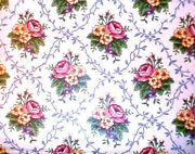 Longaberger Rare Retired Mothers Day Roses Fabric-half Yard-new-shop Store