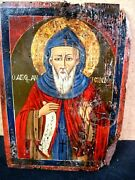 Vintage Russian Icon- On Board- Religious Saint- 18th-19th Century Full Color