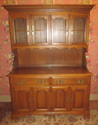 Tanbark Oak China Cabinet Half Glass 54 Wide By Tell City Chair Company