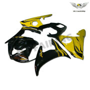 Woo Injection Yellow Fairing Kit Fit For Yamaha 2003-2005and06-09 R6s Yzf R6 E028