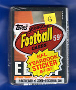 1985 Topps Football Cards Cello Pack 28 Cards Plus Sticker G John Elway Showing