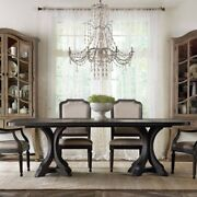 Beaumont Lane 79 Rectangular Pedestal Dining Table With 2 Leaves In Brown