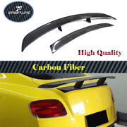 Rear Turnk Spoiler Lid Wing For Bentley Continental Coupe 12-18 Carbon Fiber