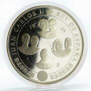 Spain 10000 Pesetas 300th Anniversary Of Bourbon Family Proof Silver Coin 1999