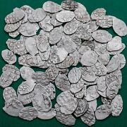 Peter I 1682-1725 Lot 100 Coins Silver Kopek Scales Russian Coin №2