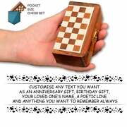 7 Large Mini Pocket Magnetic Travel Chess Board With German Staunton Pieces Set