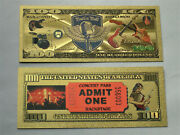 Gold Rock N Roll Banknote Comic Books Magazines Collectibles Comic Superheroes