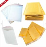 Mail Lite / Lites Padded Bags Envelopes And039all Sizesand039 +free Del - White And Gold