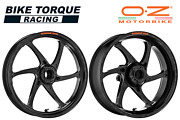 Oz Gass Rs-a Black Forged Alloy Wheels To Fit Suzuki Gsxr1000 No Abs 09-16