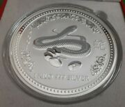 2001 Kilo Silver Coin. Year Of The Snake. Australian Perth Mint In Display Box