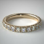 2.00 Carat Real Diamond Engagement Rings For Women 14k Yellow Gold Size 6 7 8 9