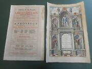 100 Original Atlas Title Pages From John Speed X2 C1676 Vgc Hand Coloured