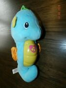 Fisher Price Soothe And Glow Seahorse Musical Lullaby Plush Toy Light Up Baby Blue