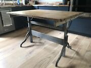 Hamilton Antique Industrial Age Drafting Table
