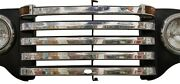 1948 1949 1950 Ford Pickup Truck Stainless Grill Bar Trim Set W/crankhole
