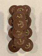 Lot Of 98 Paulson Roulette - Table 1 - Casino Chips - Brown - Handc