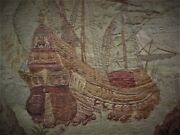 Antique French Hand Loom Gorgeous Tapestry
