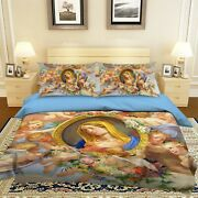 3d Angel Our Lady Nao2369 Bed Pillowcases Quilt Duvet Cover Set Queen King Fay