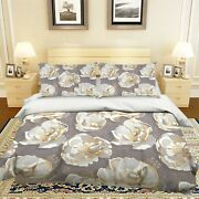 3d Carving Flower Nao2460 Bed Pillowcases Quilt Duvet Cover Set Queen King Fay