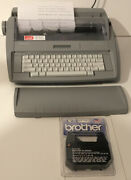 Brother Sx-4000 Lcd Digital Display Portable Electronic Typewriter