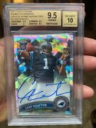 Bgs 9.5 With 10 Auto /50 Made Topps Chrome Atomic Cam Newton Star Rookie 2011