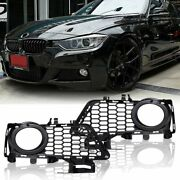 Front Bumper Fog Light Grille Grill For Bmw 12-18 F30 F31 F35 3-series M Package