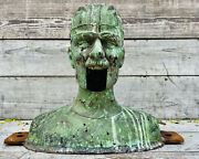Vintage Ventriloquist Head Foundary Mold Cast Metal Doll Bust Face Max Headroom