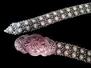 Super Sale Pre-owned Belt Thai Style 925 Solid Sterling Silver Hand Made Hi-end