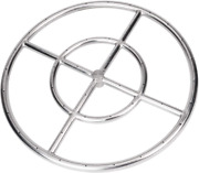 Gaspro 24 Inch Round Fire Pit Burner Ring For Natural Gas Or Propane 304 Seri...