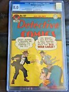 Detective Comics 101 Cgc Vf 8.0 Ow-w Wwii War Loan Cover
