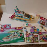 Lego 41015 Friends Dolphin Cruiser Yacht No Box W 3183 And More Missing Pieces
