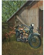 Harley-davidson Motorcycle 1923 F Head Twin Andndash Original Painting By Scott Jacobs