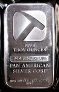 Pan American Silver Corp. Northwest Territorial Mint 5 Oz .999 Pure Silver Bar