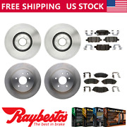 For 2010 M45 Front Rear Brake Rotors And Ceramic Brake Pads - Raybestos